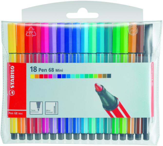 PEN 68 MINI ROJO ROTULADOR