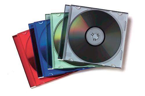 98317 CAJA TRANSPARENTE PARA CD 1DISCOS MULTICOLOR FUNDA PARA DISCOS óPTICOS