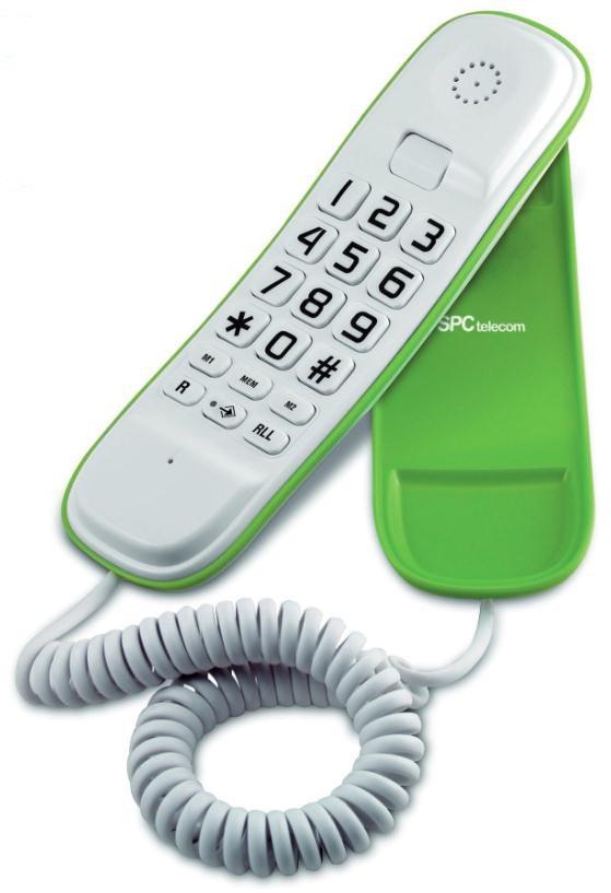 ORIGINAL LITE TELéFONO BLANCO/VERDE 3601V