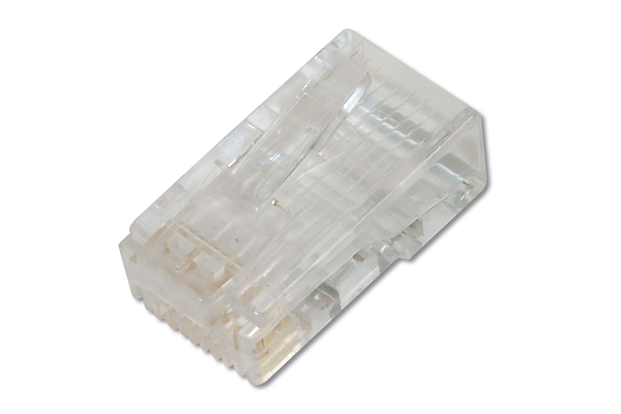 AK-219602 RJ45 8P8C TRANSPARENTE CONECTOR