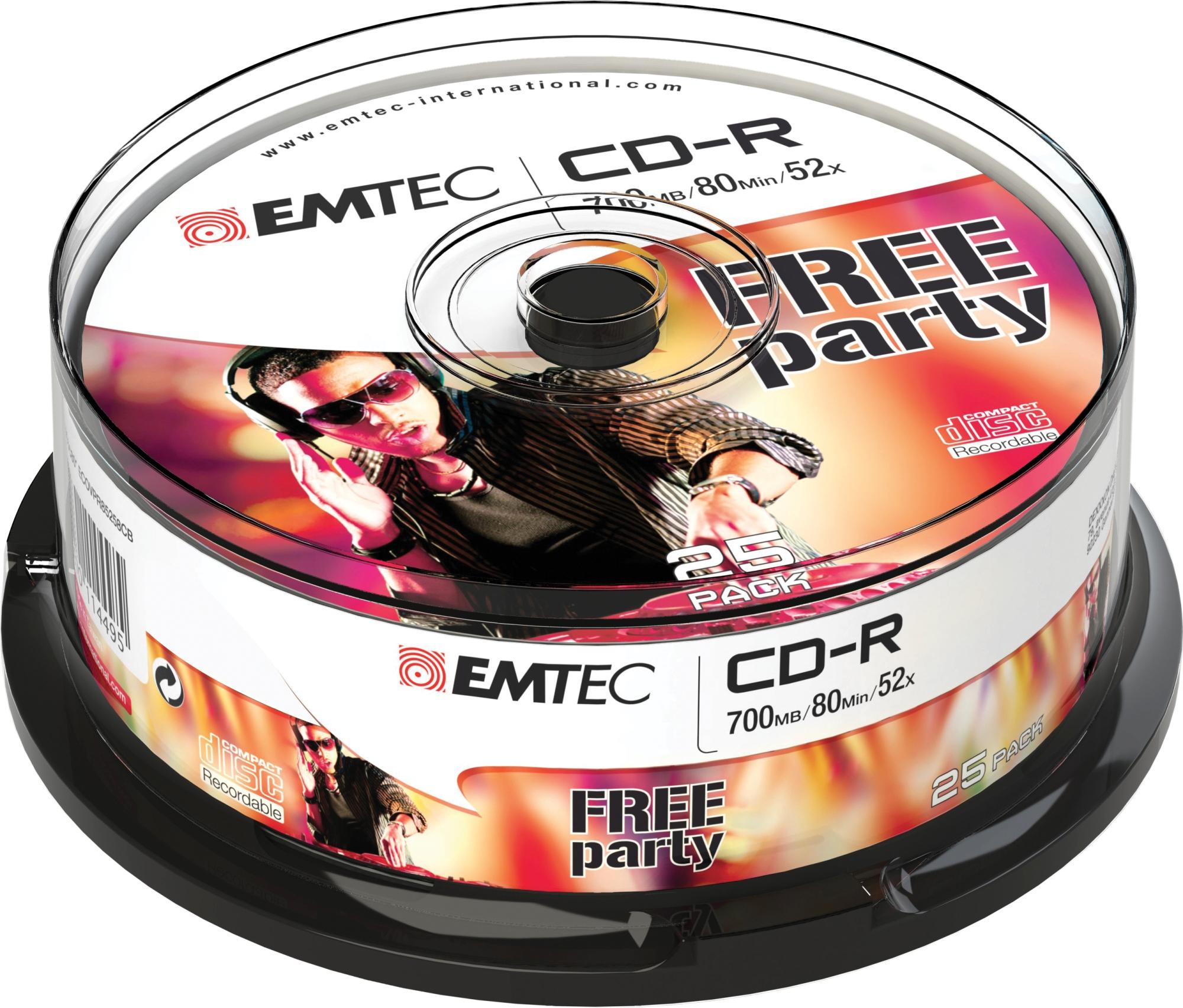 ECOC802552CB CD-R 700MB 25PIEZA(S) CD EN BLANCO CD/DVD/DISQUETES VÍRGENES