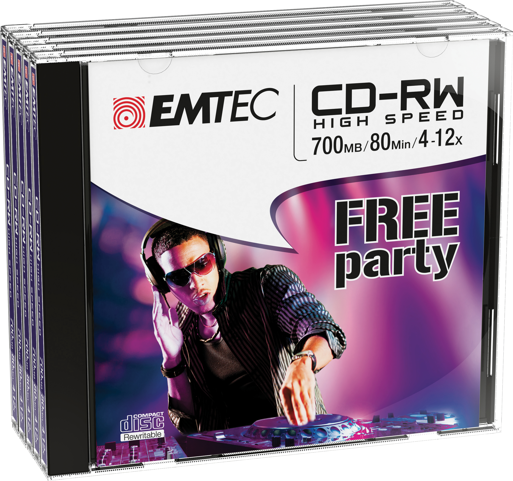 ECOCRW80512JC CD-RW 700MB 5PIEZA(S) CD EN BLANCO