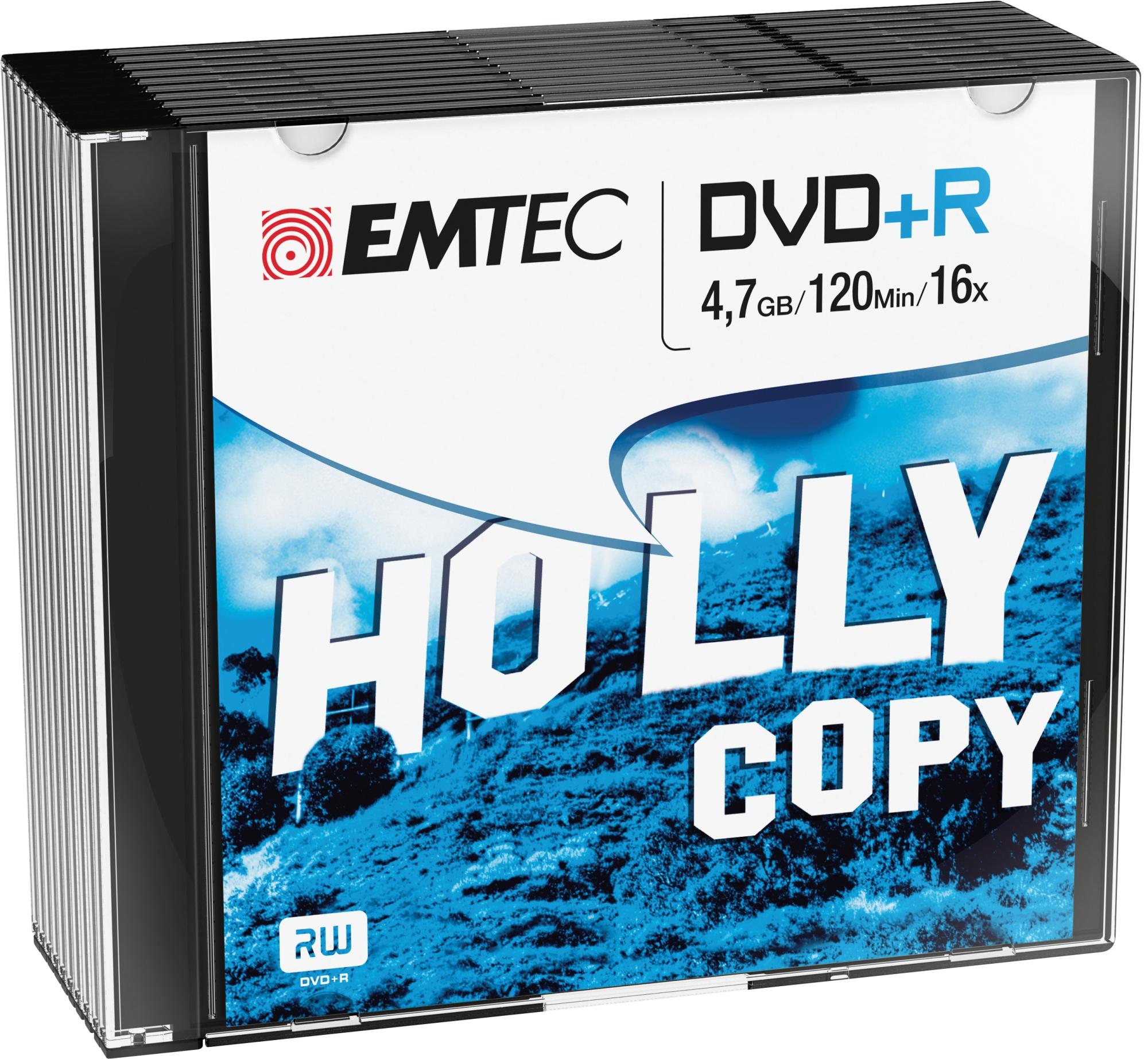 ECOVPR471016SL 4.7GB DVD+R 10PIEZA(S) DVD EN BLANCO CD/DVD/DISQUETES VÍRGENES
