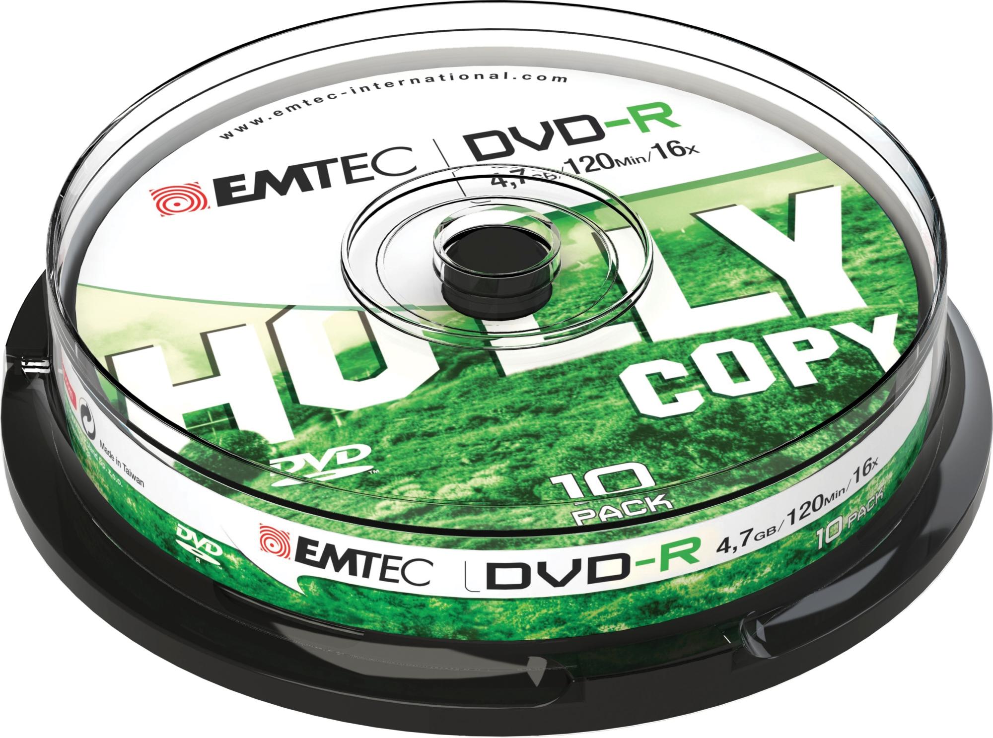 ECOVR471016CB 4.7GB DVD-R 10PIEZA(S) DVD EN BLANCO