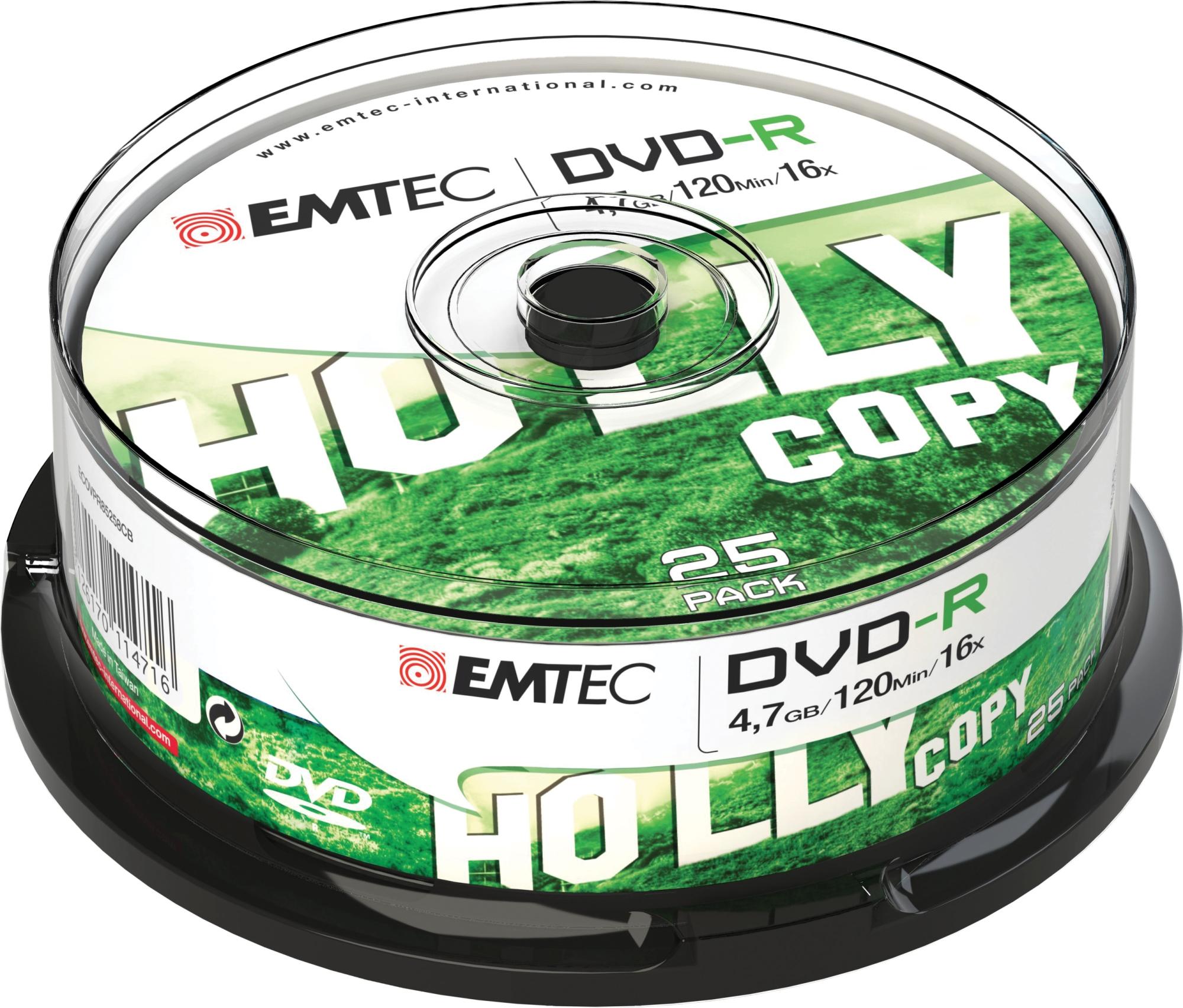 ECOVR472516CB 4.7GB DVD-R 25PIEZA(S) DVD EN BLANCO CD/DVD/DISQUETES VÍRGENES