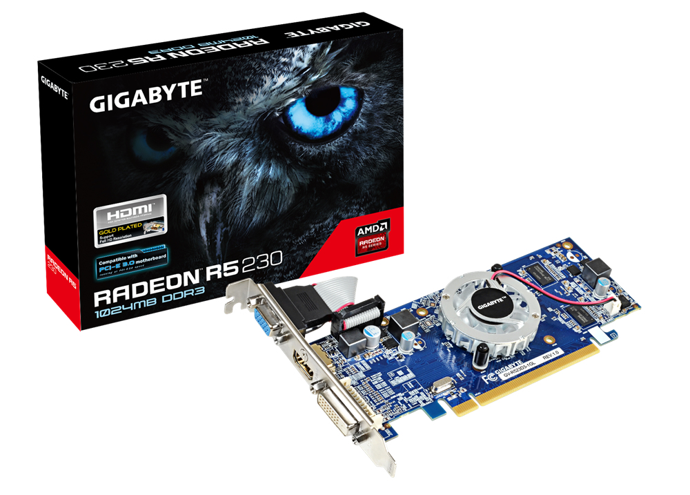 VGA GIGABYTE NVIDA G-FORCE GT GV-R523D3-1GL
