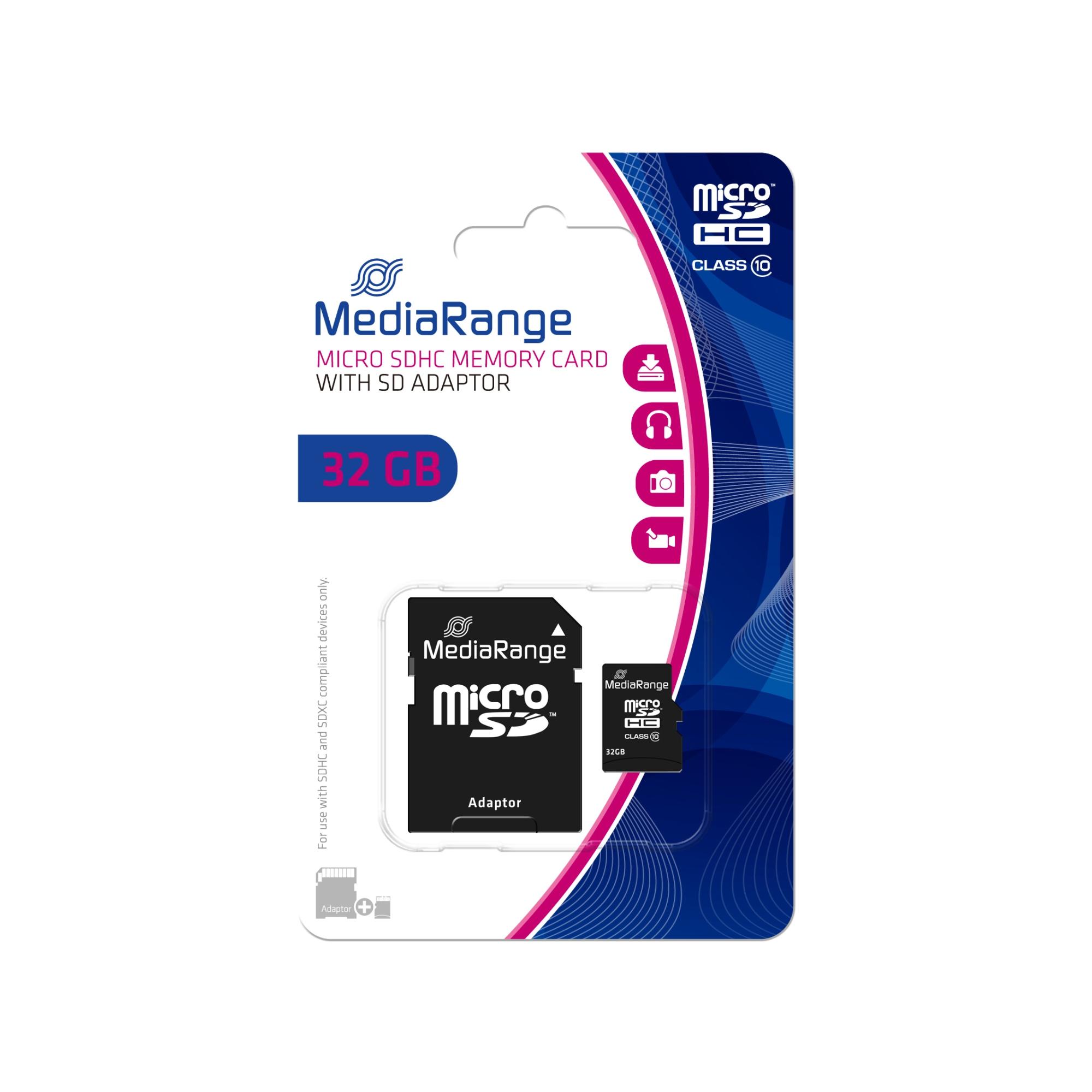 32GB MICROSDHC MEMORIA FLASH CLASE 10