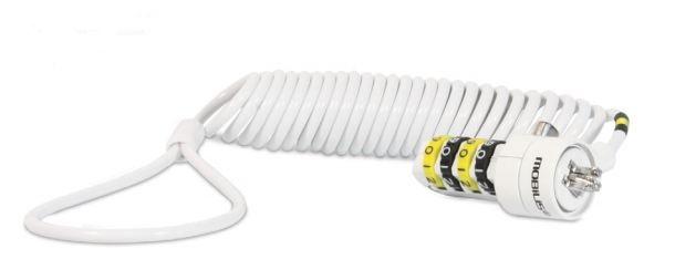 001234 Cable Antirrobo Blanco 1,8 M