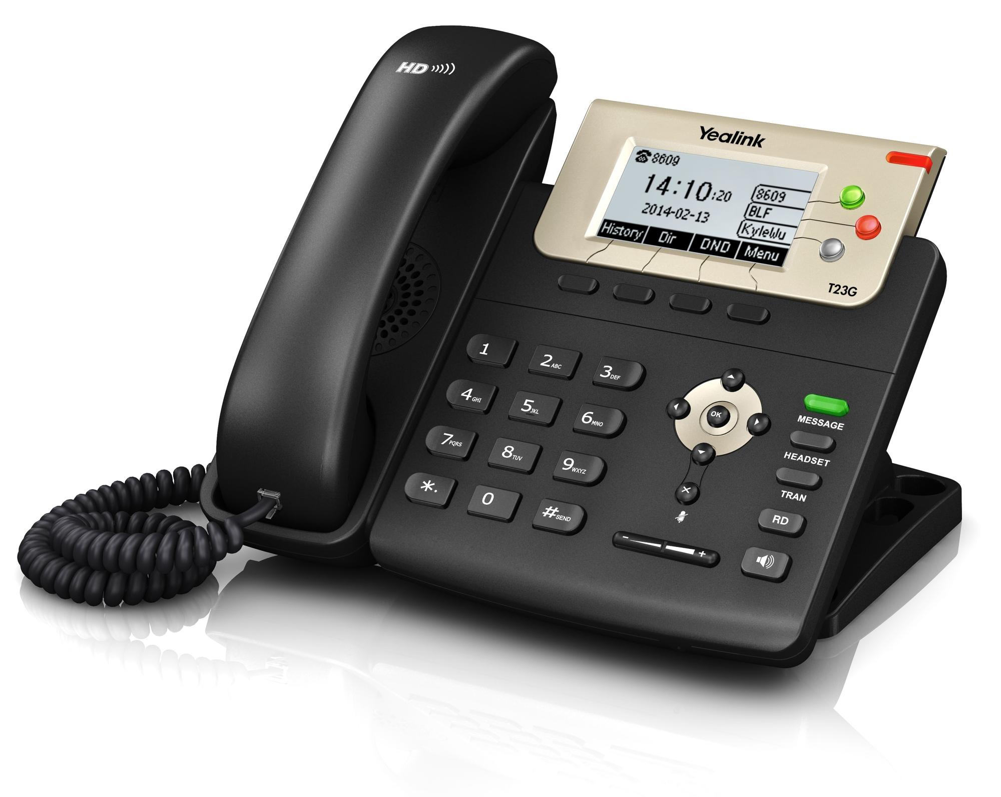 SIP-T23G TERMINAL CON CONEXIóN POR CABLE LCD NEGRO TELéFONO IP