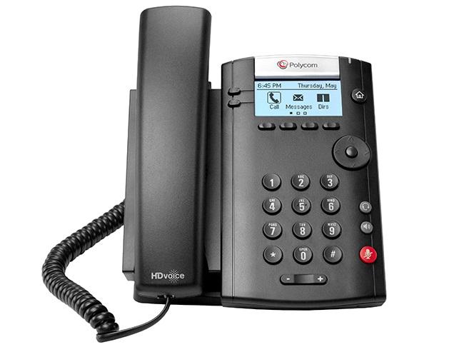 VVX 201 TERMINAL CON CONEXIóN POR CABLE 2LíNEAS LCD NEGRO TELéFONO IP