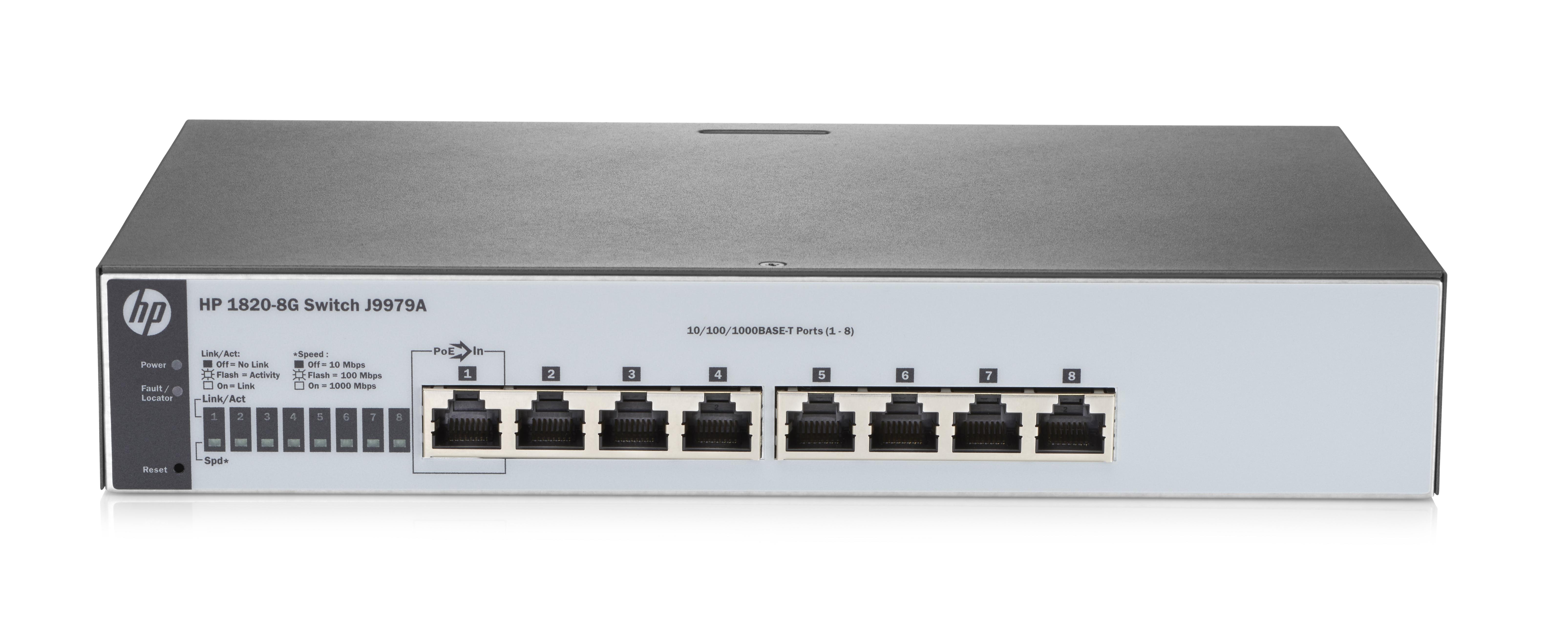 1820-8g Managed Network Switch L2 Gigabit Ethernet (10/100/1000) 1u Gris