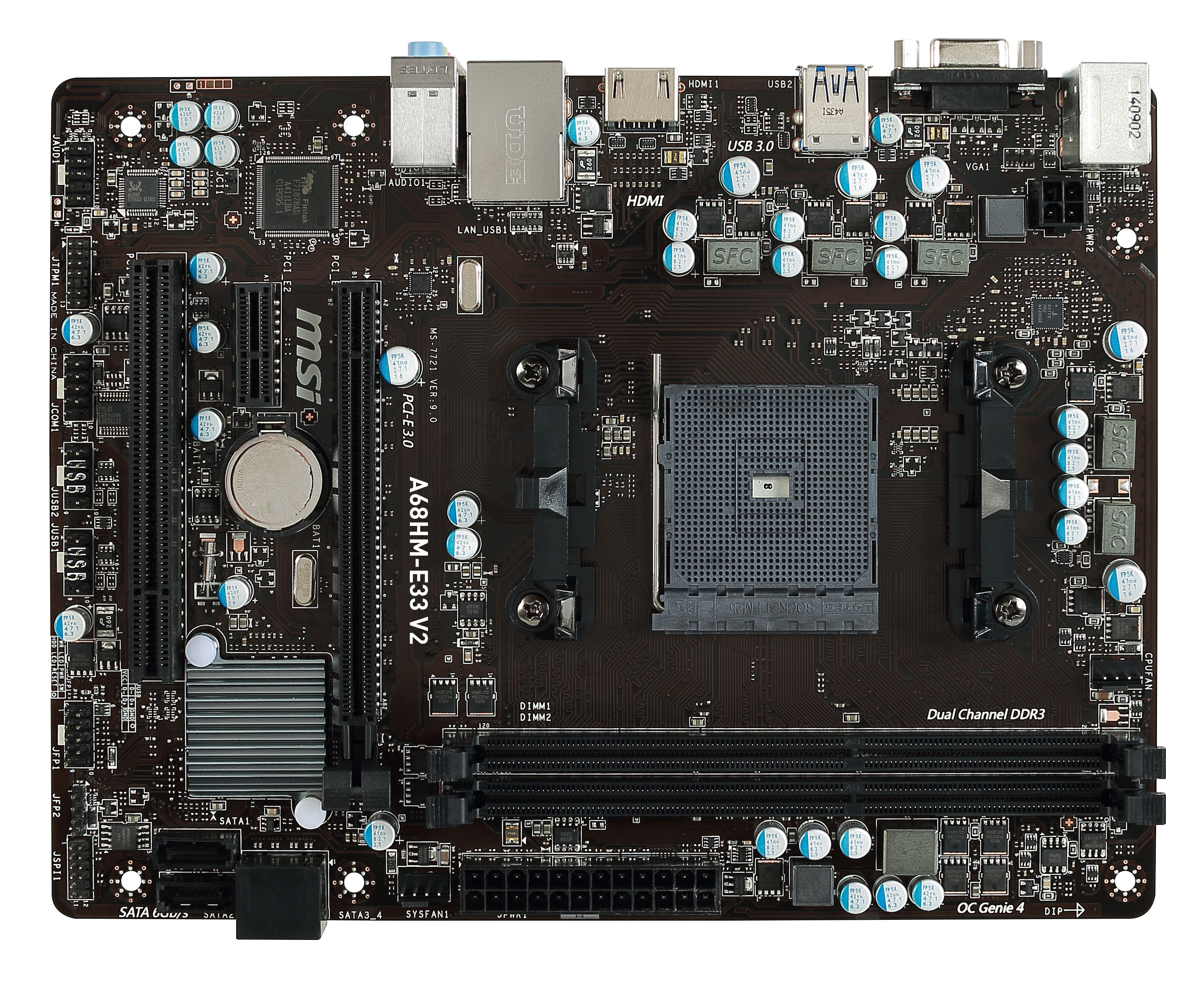 A68HM-E33 V2 AMD A68H SOCKET FM2+ MICRO ATX PLACA BASE