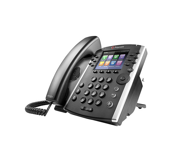 VVX 411 TERMINAL CON CONEXIóN POR CABLE 12LíNEAS TFT NEGRO TELéFONO IP