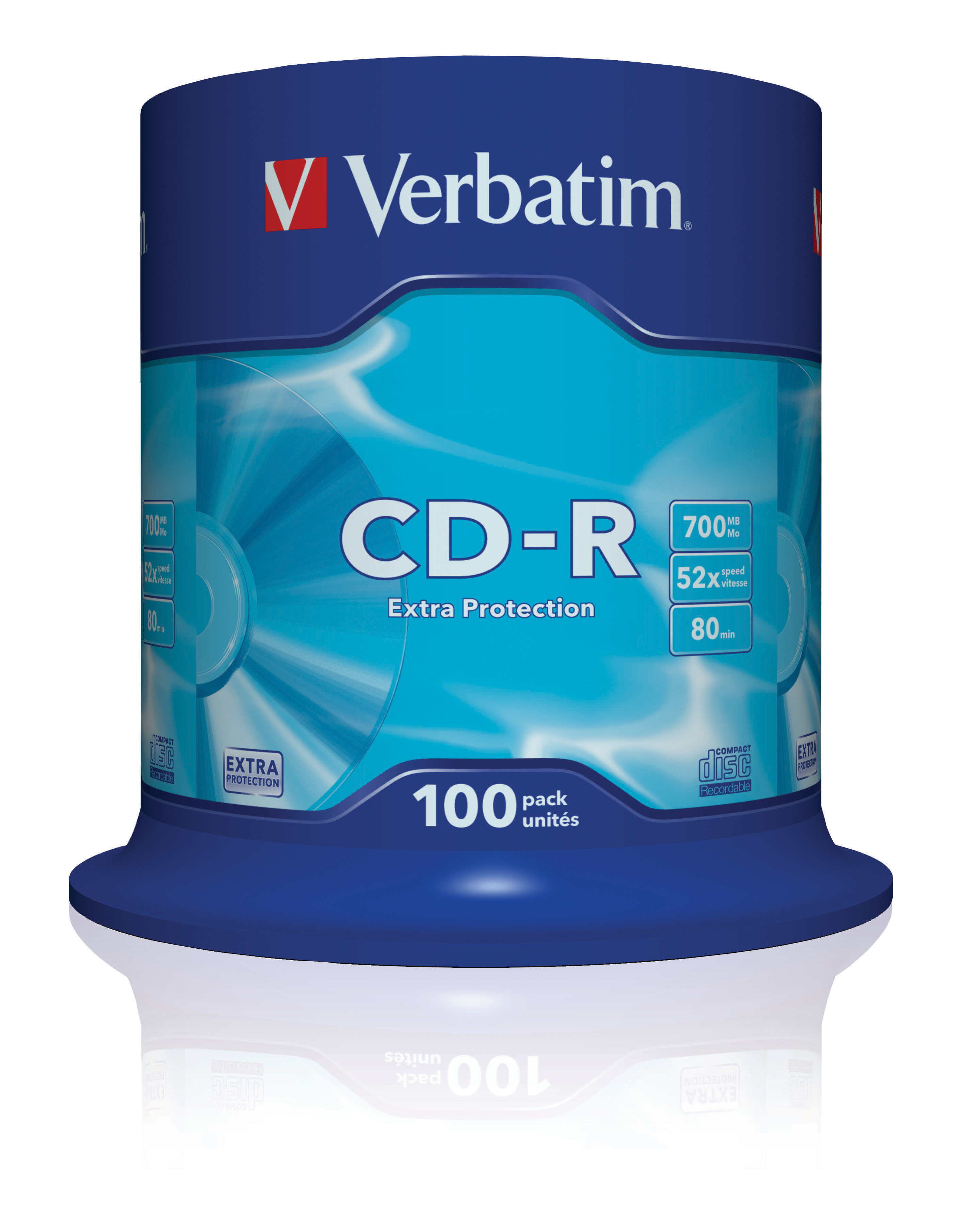 CD-R EXTRA PROTECTION CD-R 700MB 100PIEZA(S)