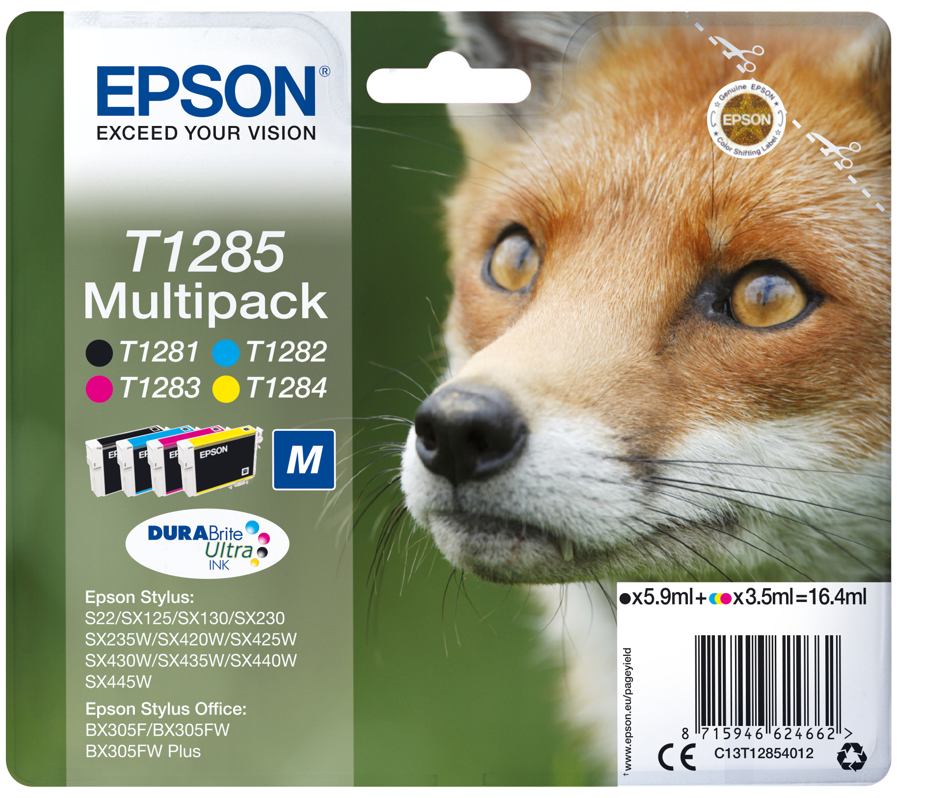 MULTIPACK 4-COL T1285 INK SECURSUPL