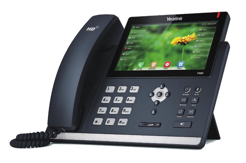 SIP-T48S TERMINAL CON CONEXIóN POR CABLE 16LíNEAS LCD NEGRO TELéFONO IP