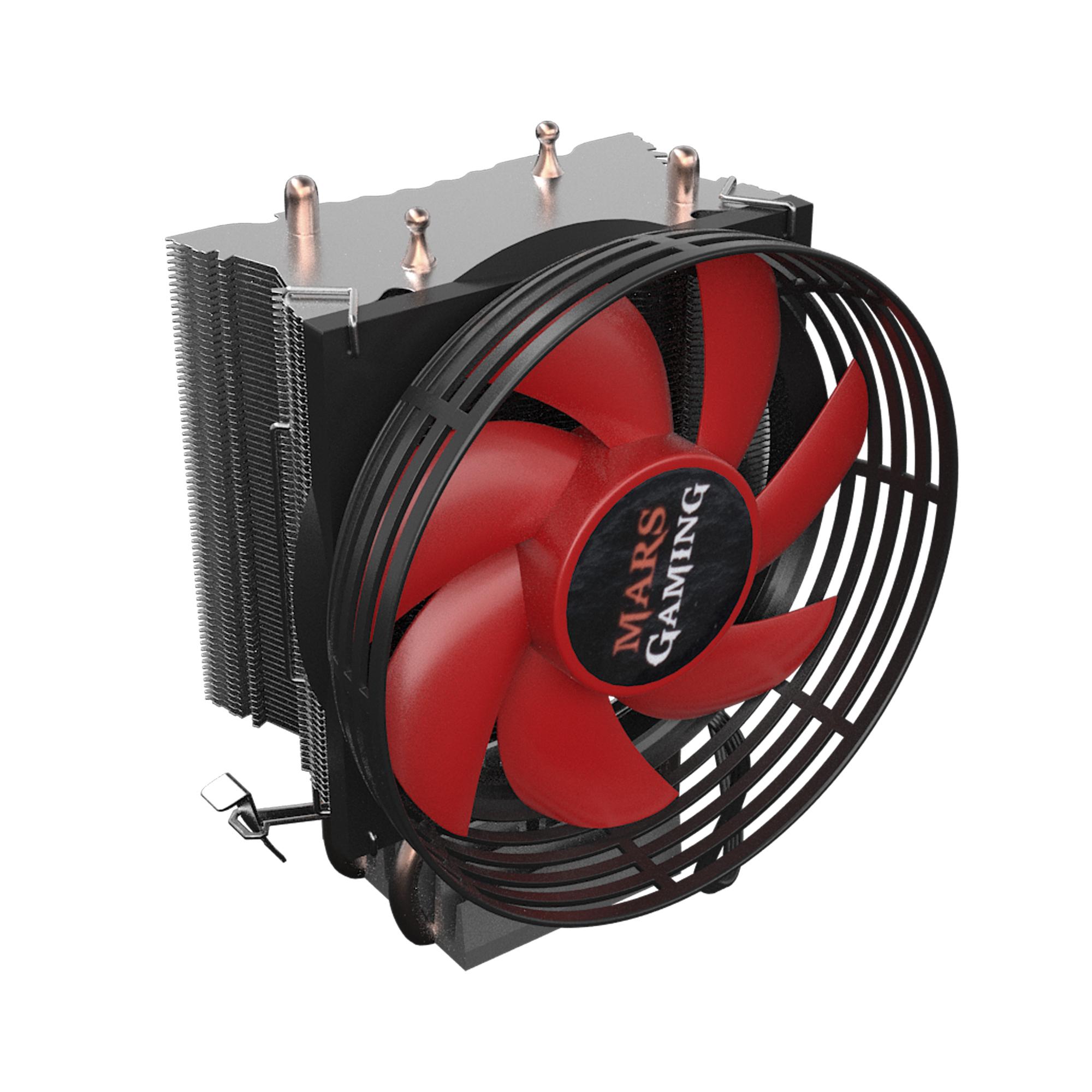 Ventilador Disipador Mars Gaming Mcpu117 - Ventilador 90mm - 2x Heatpipe - Aluminio+cobre - Sockets Compatibles Segun Especificaciones