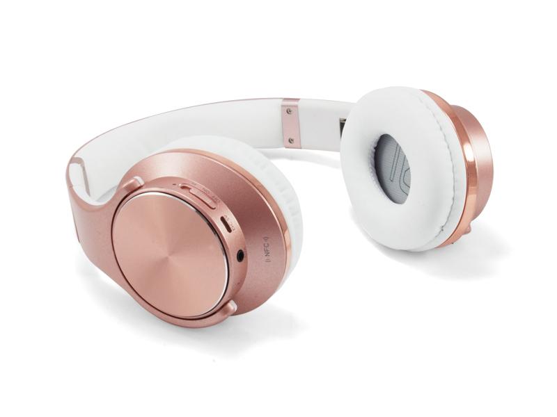 Auriculares Bluetooth Con Micrfono Conceptronic Chspbtnfcspkr Rosa - Func. Altavoz + Manos Libres - Aux In - Microsd - Nfc - Bat 400ma