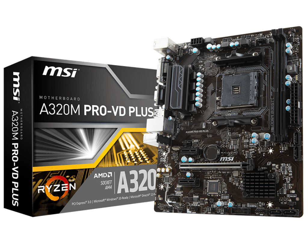 A320M PRO-VD PLUS AMD A320 SOCKET AM4 MICROATX PLACA BASE