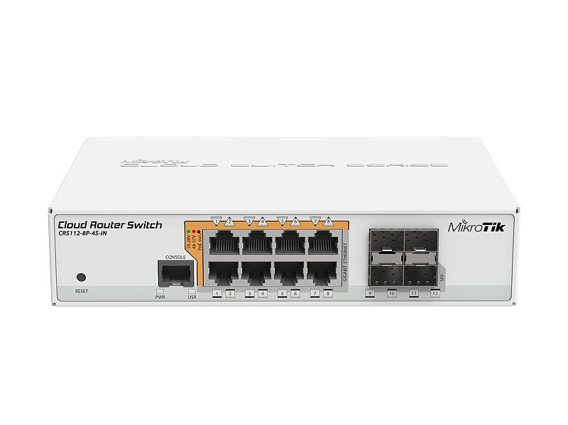 Crs112-8p-4s-in Gigabit Ethernet (10/100/1000) Energía Sobre Ethernet (poe) Blanco Switch