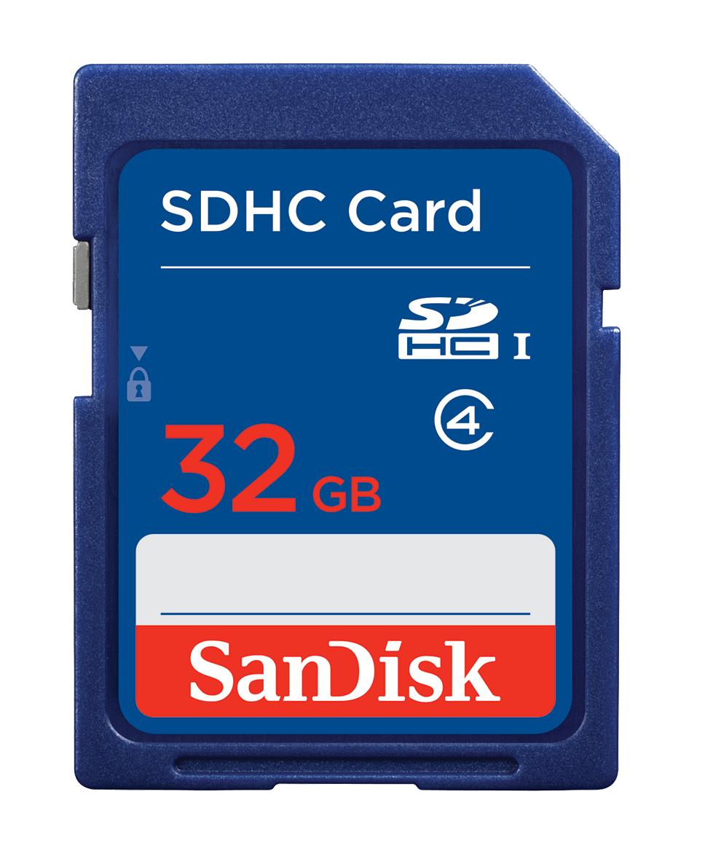 TARJETA SDHC SANDISK - 32GB - CLASE 4
