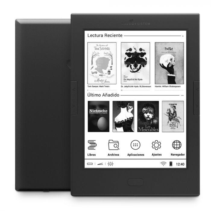 EREADER PRO 4 LECTORE DE E-BOOK PANTALLA TáCTIL 8 GB WIFI NEGRO