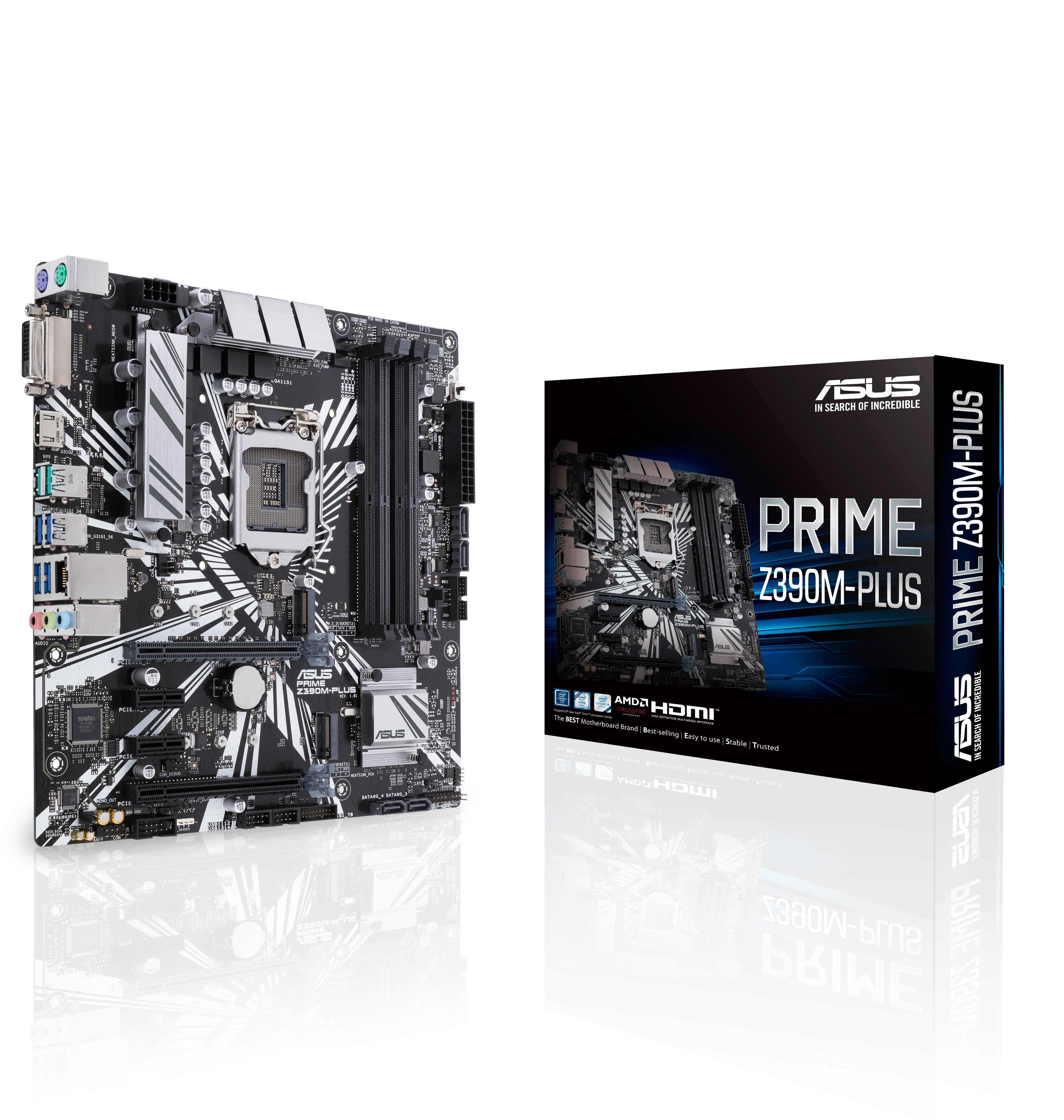PRIME Z390M-PLUS LGA 1151 (ZóCALO H4) INTEL Z390 MICRO ATX
