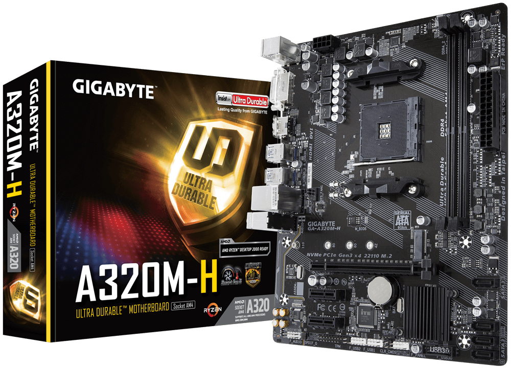 GA-A320M-H PLACA BASE ZóCALO AM4 AMD A320 MICRO ATX