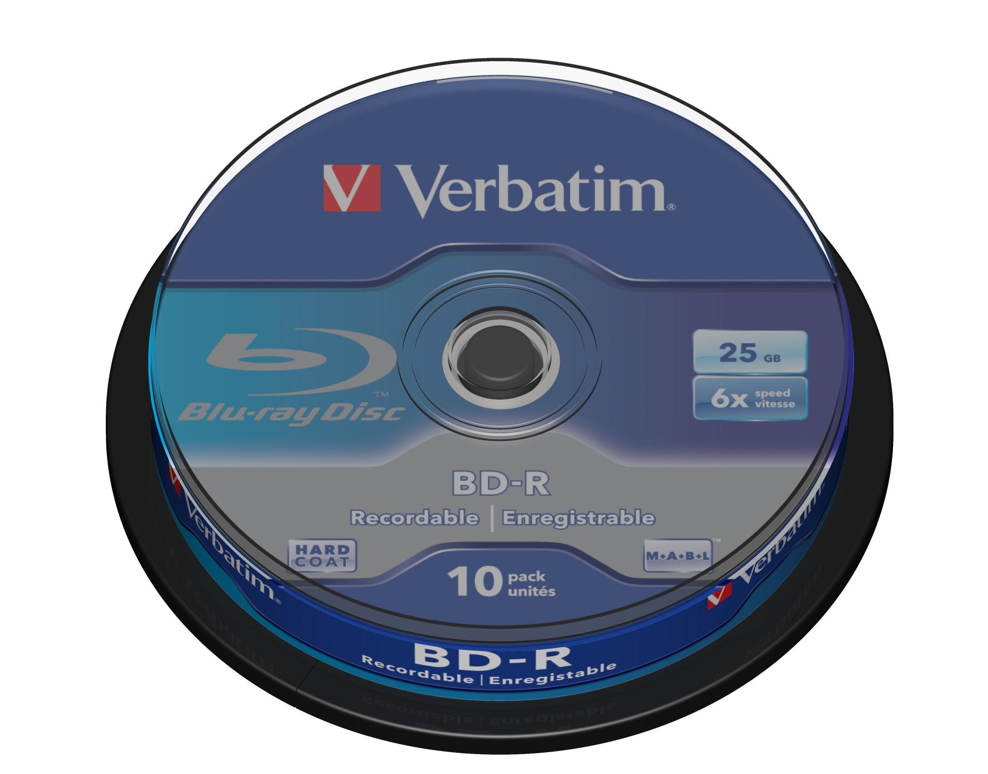 BD-R SL 25GB 6 X 10 PACK SPINDLE BD-R 25GB 10PIEZA(S)