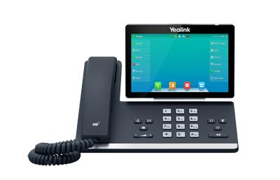 SIP-T57W TELéFONO IP GRIS TERMINAL CON CONEXIóN POR CABLE WIFI