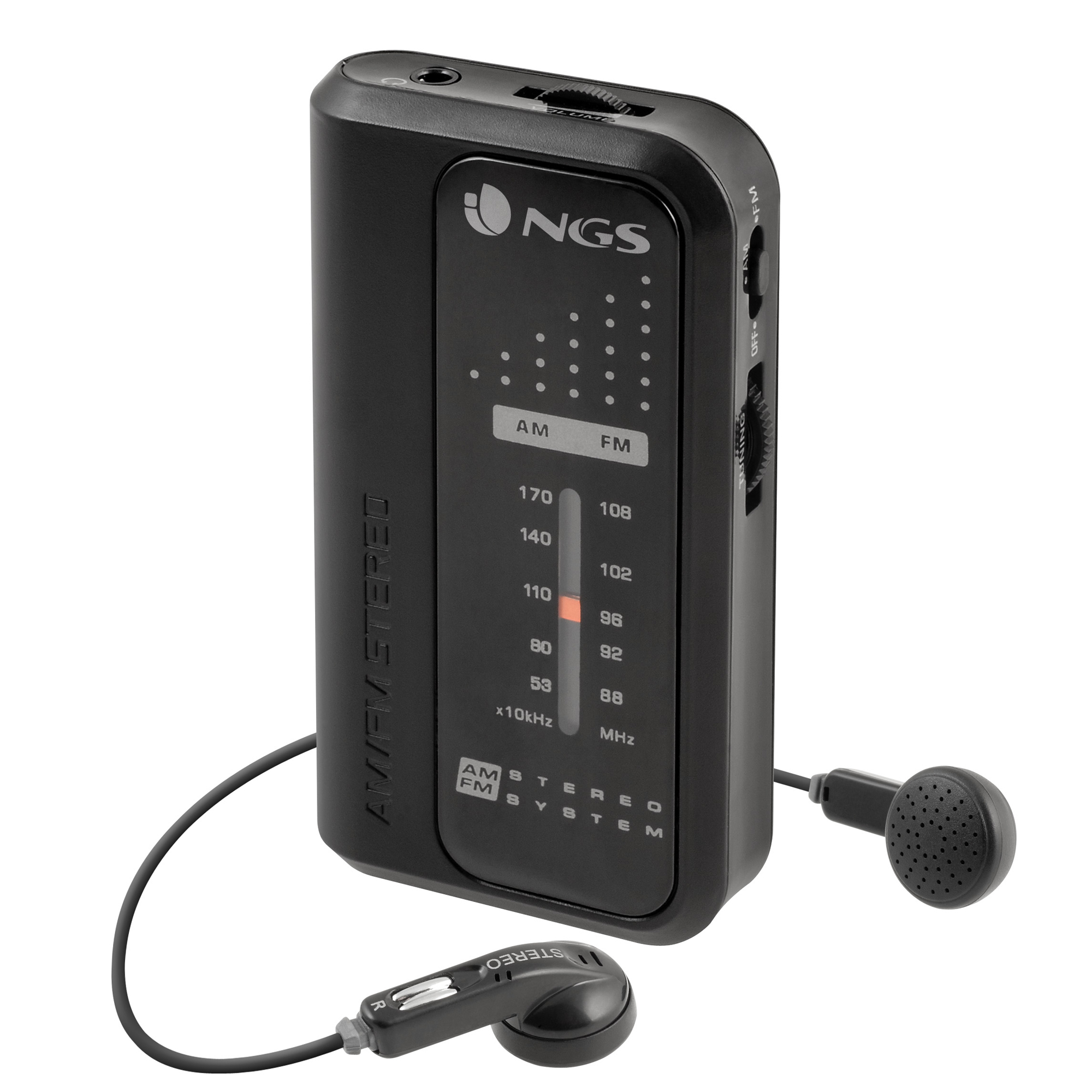 CODE KNOCK RADIO PERSONAL ANALóGICA NEGRO