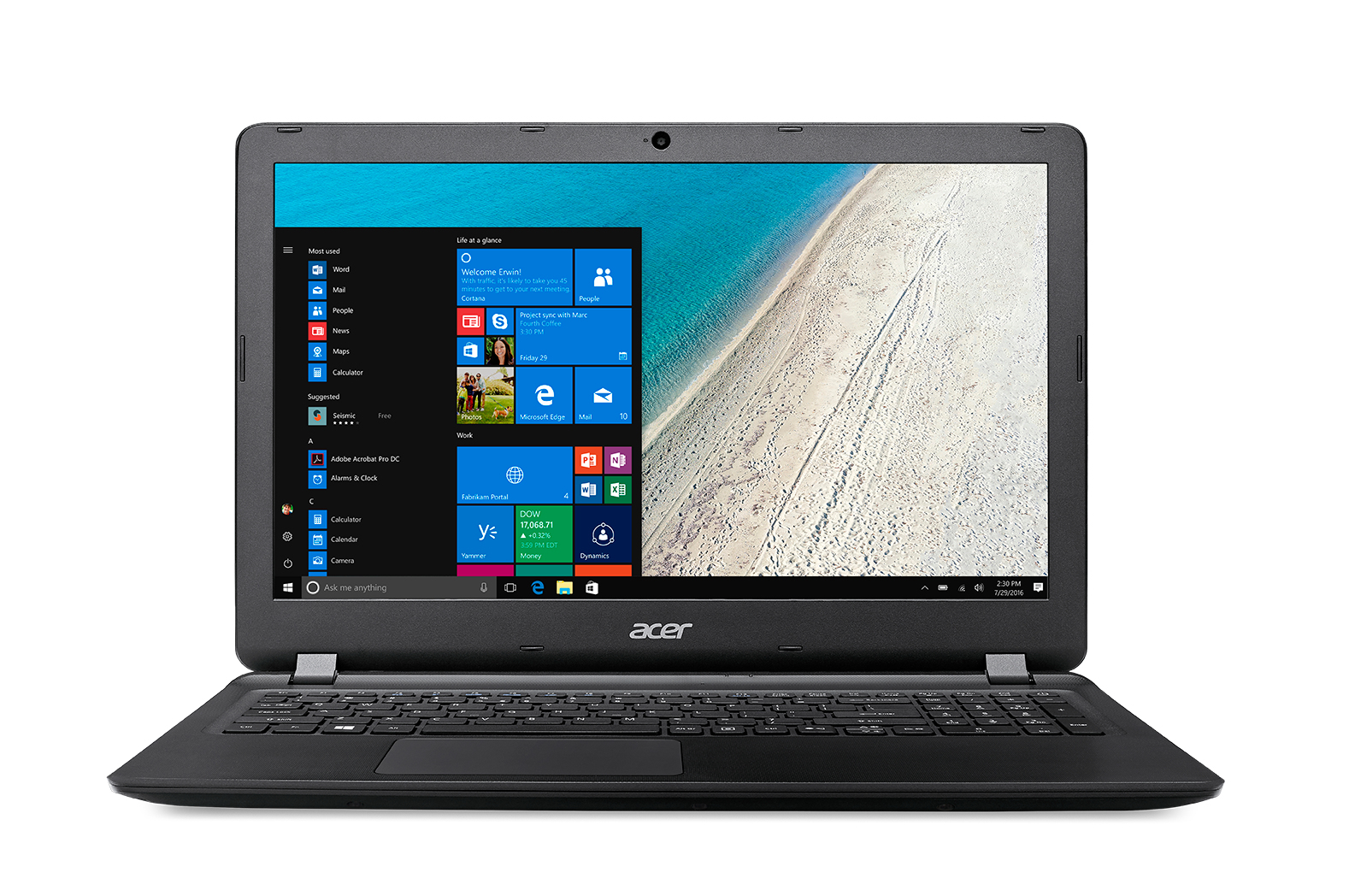 Extensa 15 Ex2540-56bf + Powercube Original Negro Portátil 39,6 Cm (15.6) 1366 X 768 Pixeles 2,50 Ghz 7ª Generación De Procesadores Intel® Core™ I5 I5-7200u