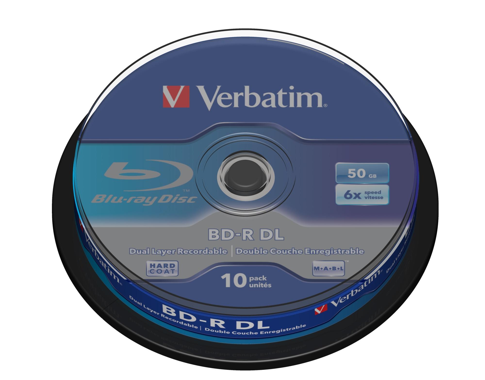 BD-R DL 50GB 6 X 10 PACK SPINDLE BD-R 50GB 10PIEZA(S)