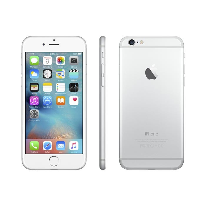 IPHONE 6 SEMI NUEVO 64GB PLATA + ACCESORIOS