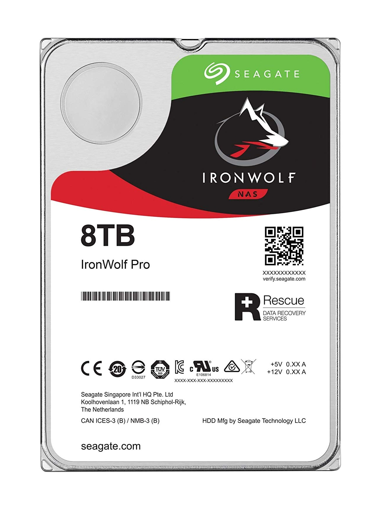 "IRONWOLF PRO ST8000NE001 DISCO DURO INTERNO 3.5"" 8000 GB SERIAL ATA III"