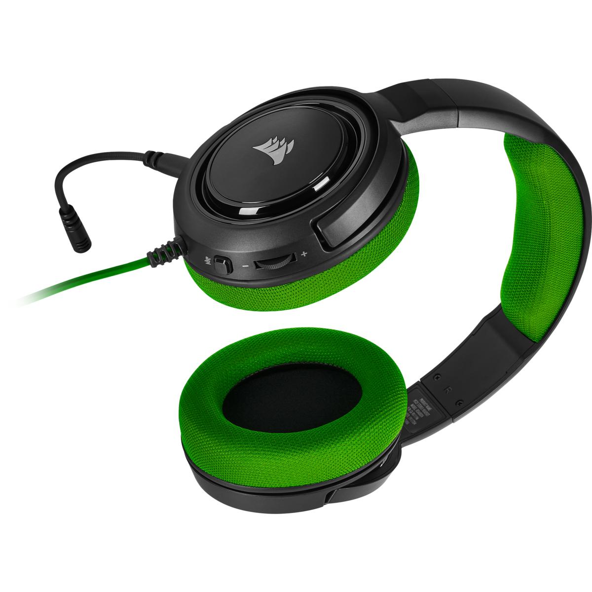 Hs35 Auriculares Diadema Negro, Verde