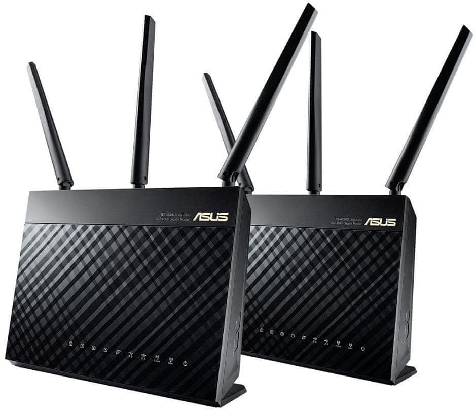 RT-AC68U ROUTER INALáMBRICO DOBLE BANDA (2,4 GHZ / 5 GHZ) GIGABIT ETHERNET NEGRO