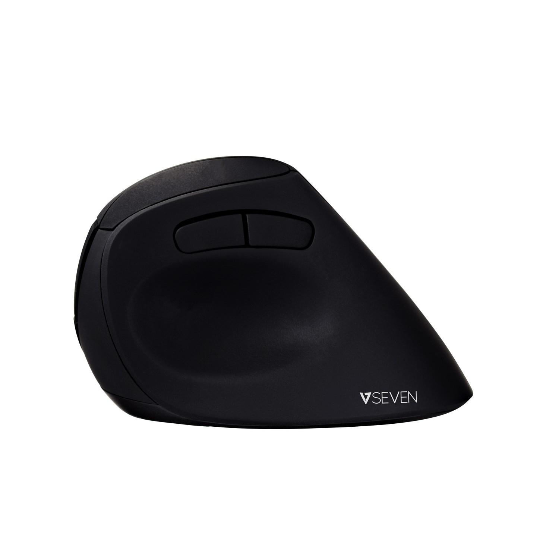 Ratón óptico Inalámbrico De Diseño Ergonómico Con 6 Botones Y Ppp Ajustables Mw500 - Negro