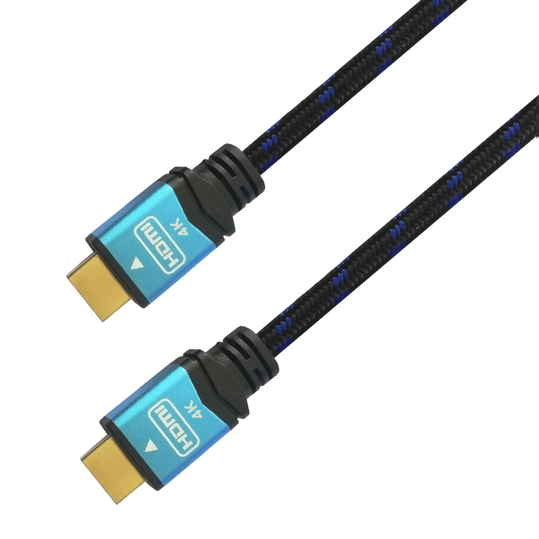 Cable Hdmi V2.0 Premium Alta Velocidad / Hec 4k@60hz 18gbps, A/m-a/m, Negro/azul, 1.0m