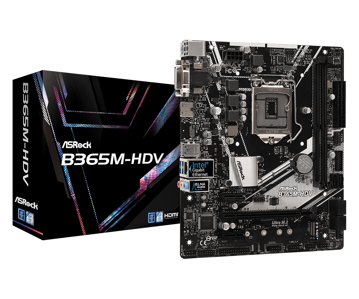 B365M-HDV PLACA BASE LGA 1151 (ZóCALO H4) MICRO ATX INTEL B365