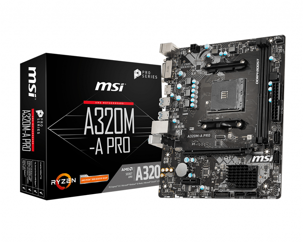 A320M-A PRO PLACA BASE ZóCALO AM4 MICRO ATX AMD A320