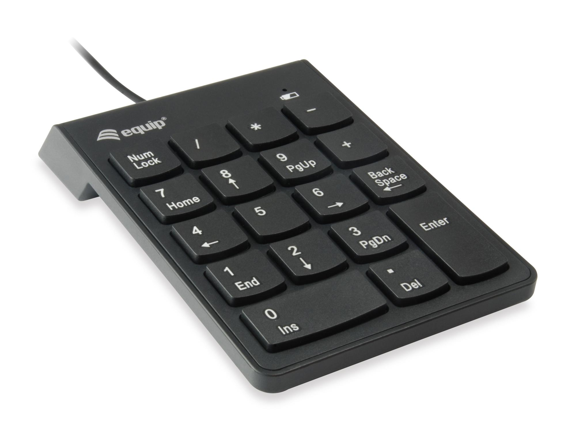 245205 TECLADO NUMéRICO USB UNIVERSAL NEGRO