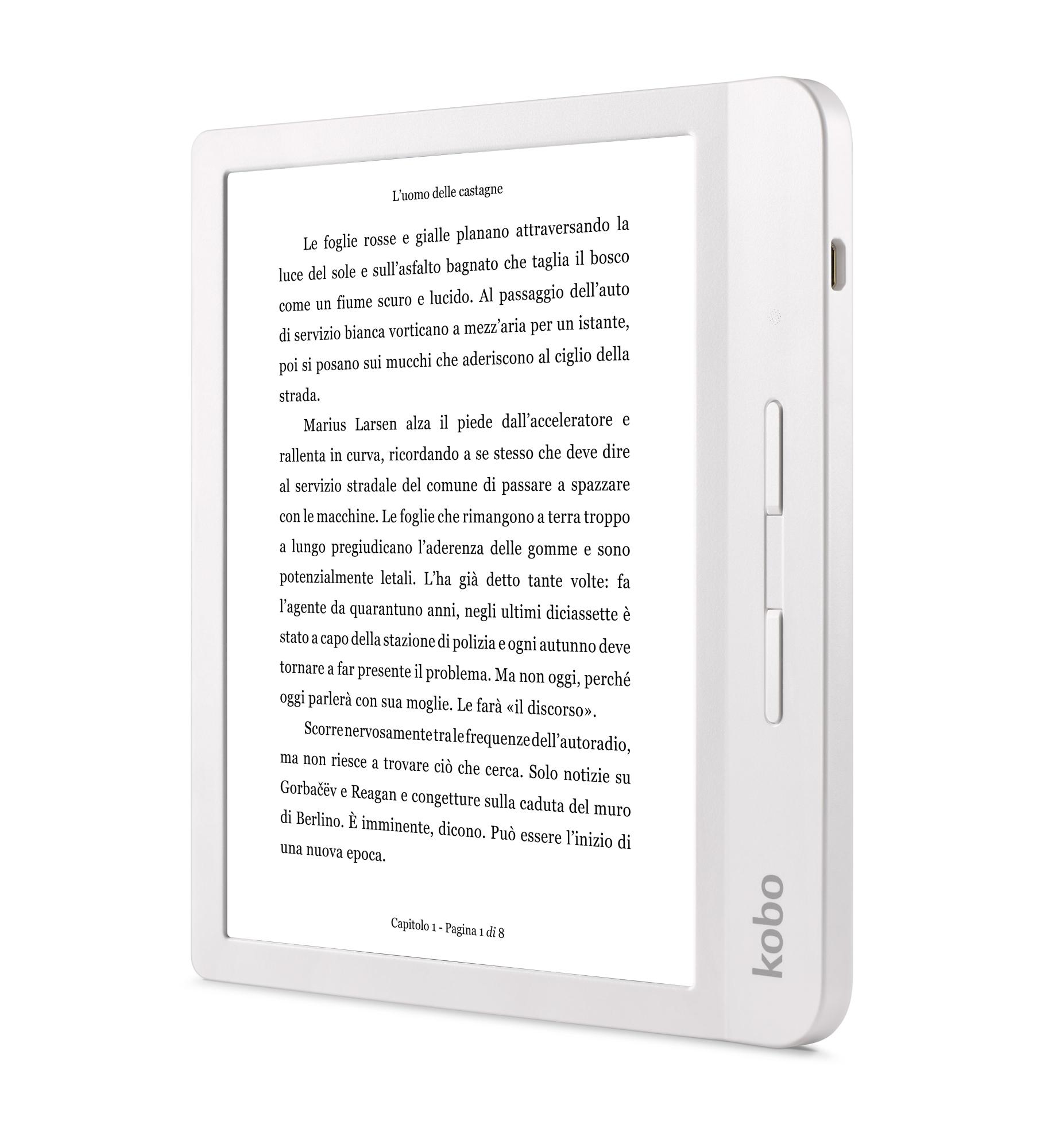 LIBRA H2O LECTORE DE E-BOOK PANTALLA TáCTIL 8 GB WIFI BLANCO