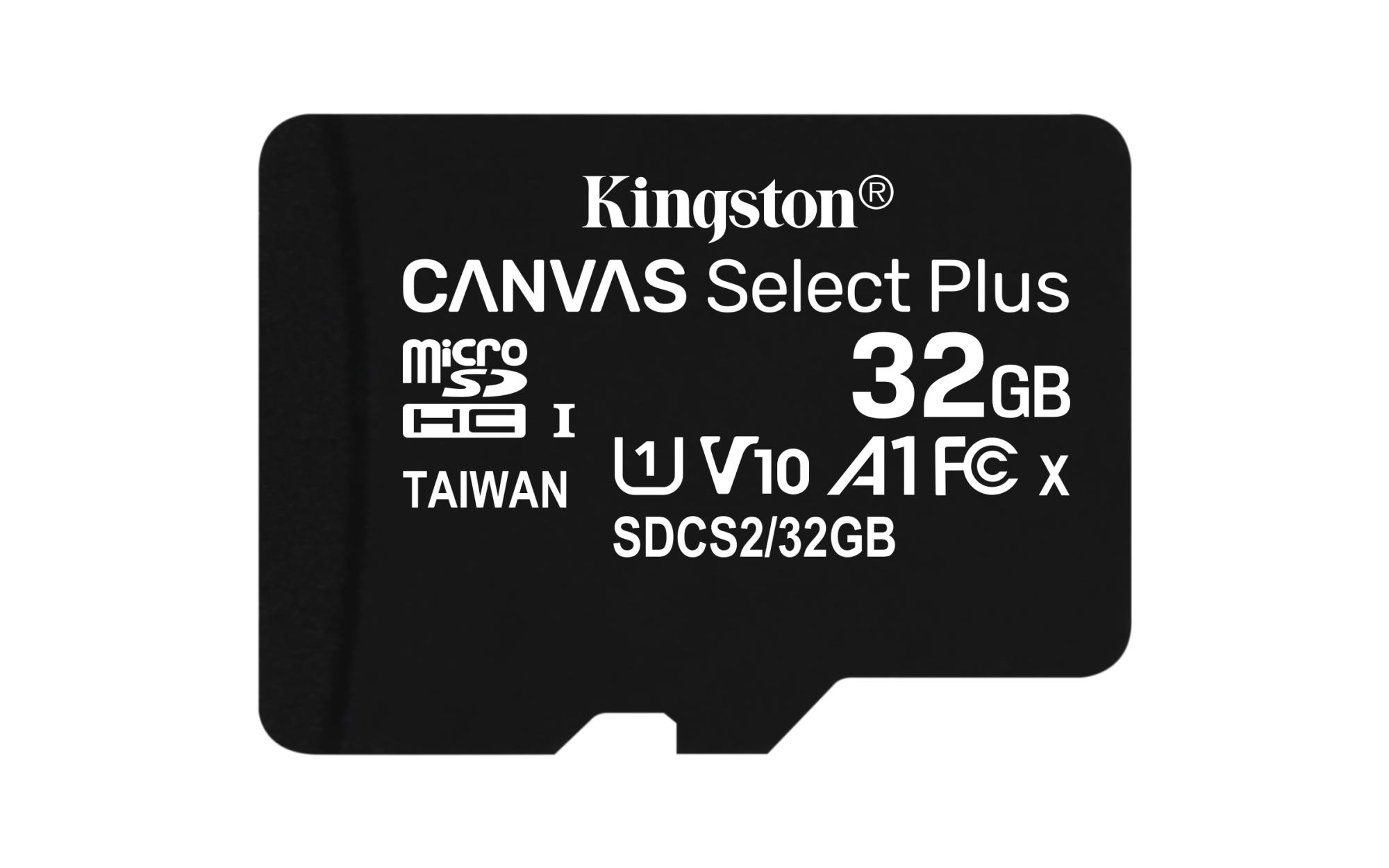 CANVAS SELECT PLUS MEMORIA FLASH 32 GB MICROSDHC CLASE 10 UHS-I