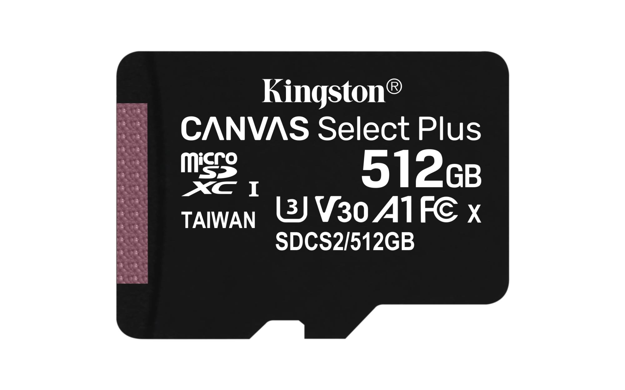 CANVAS SELECT PLUS MEMORIA FLASH 512 GB SDXC CLASE 10 UHS-I