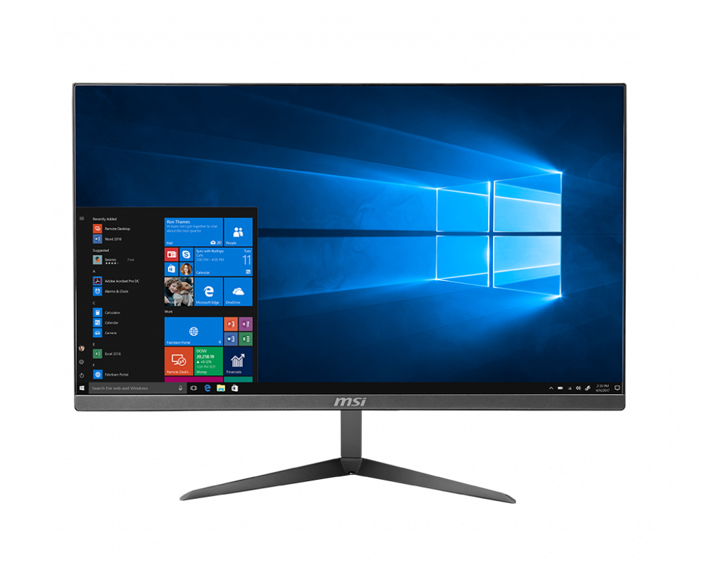 "PRO 24X 10M-044EU 60,5 CM (23.8"") 1920 X 1080 PIXELES INTEL® PENTIUM® GOLD 4 GB DDR4-SDRAM 64 GB SSD WI-FI 5 (802.11AC) PLATA PC TODO EN UNO WINDOWS 10 PRO"
