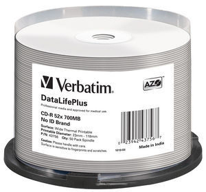 DATALIFEPLUS CD-R 700MB 50PIEZA(S)
