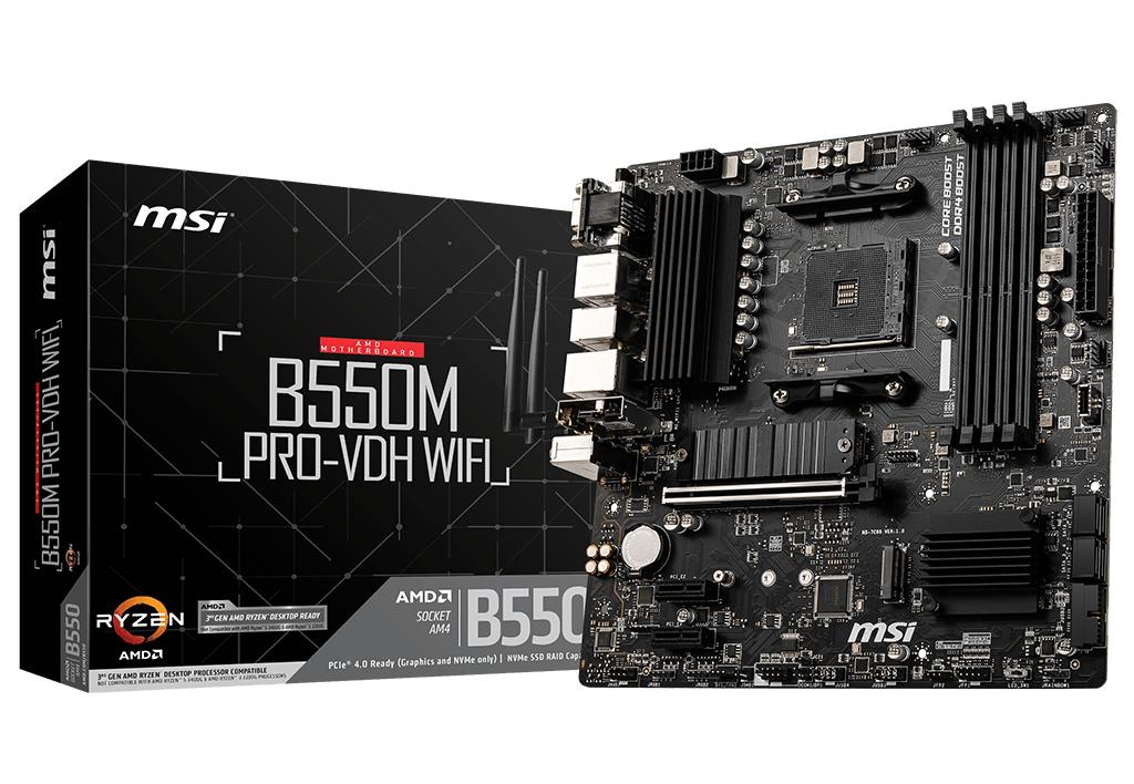 B550m Pro-vdh Wifi Zócalo Am4 Micro Atx Amd B550