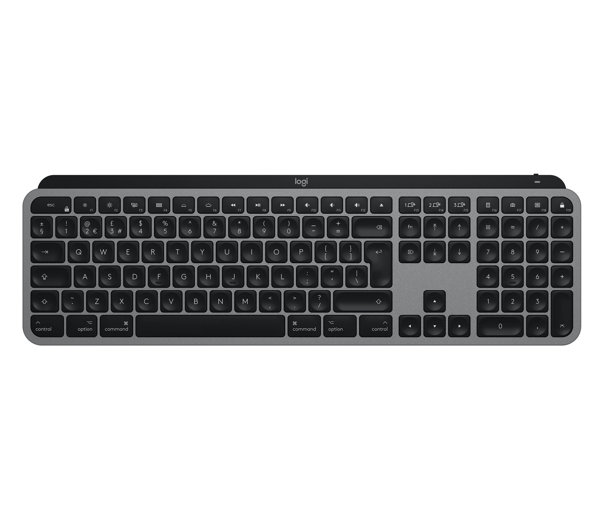 Mx Keys Teclado Rf Wireless + Bluetooth Qwerty Español Aluminio, Negro 0.0