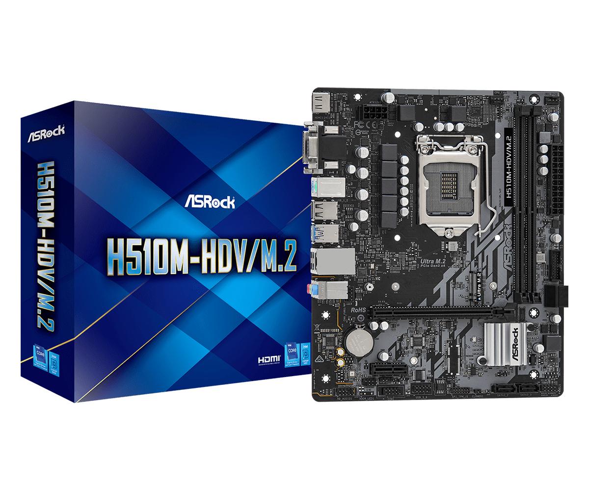 H510M-HDV/M.2 INTEL H510 LGA 1200 MICRO ATX